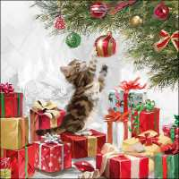 Art.No.71368- Салфетки Kitten and Baubles  от