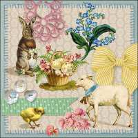 Art.No.23301635- Салфетки Easter Collage от