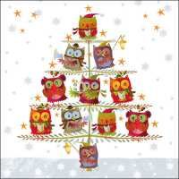 Art.No.33305055- Салфетки Christmas Tree with Owls  от