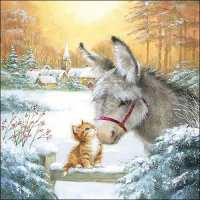 Art.No.33312000- Салфетки Donkey ANd Kitten  от