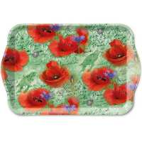 Art.No.13714210- Поднос Painted poppies green от