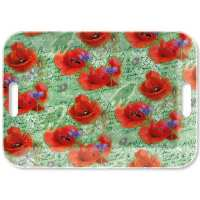 Art.No.13914210- Поднос Painted poppies green от