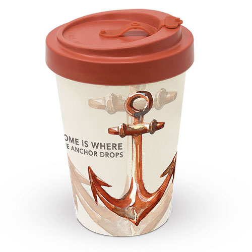 Чаша Bamboo travel mug Rusty anchor